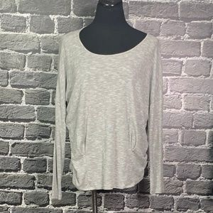 Lapis Heathered Gray Thermal Ribbed Top Sz M
